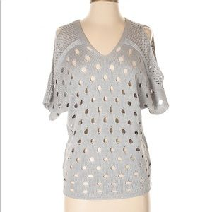Anthropologie open weave cold shoulder sweater, S.